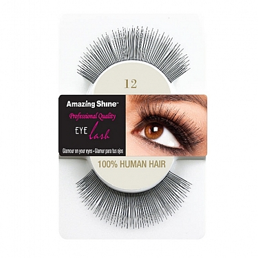 EYE LASH BLACK MODELO 12 REF : 652 AMAZING SHINE