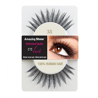 EYE LASH BLACK MODELO 38 REF : 655 AMAZING SHINE