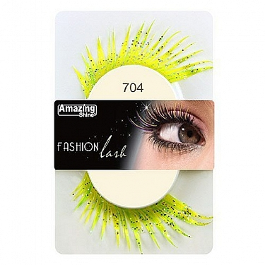 FASHION LASH (AMARILLO/VERDE CON PURPURINA) REF : 704 AMAZING SHINE