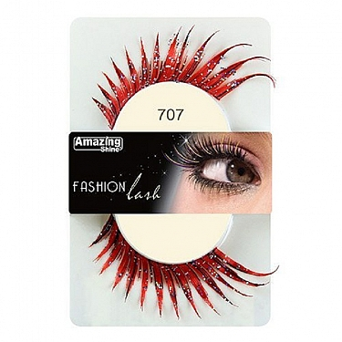FASHION LASH (ROJO CON PURPURINA) REF : 707 AMAZING SHINE